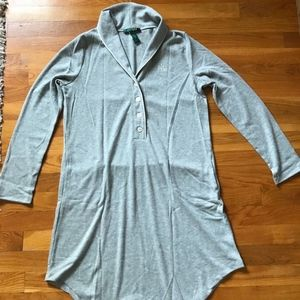 NEW!! Ralph Lauren Womens Shirt Lounge Pajama Gray